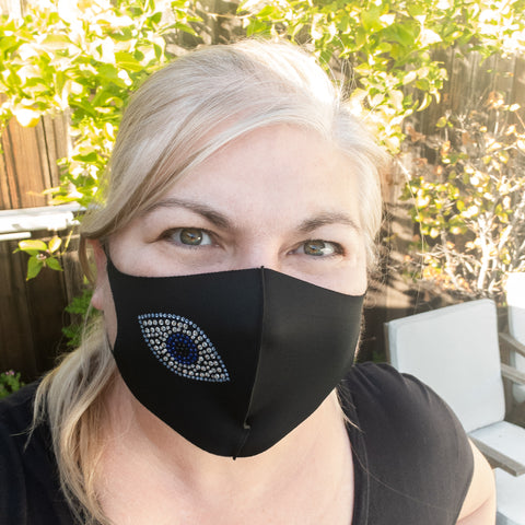 Evil Eye Crystal Fashion Mask