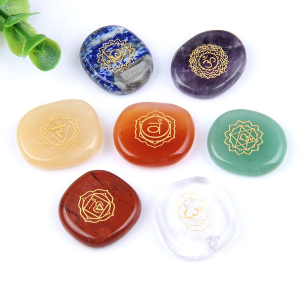 Align + Enlighten Your Chakras Natural Polished Stone Set