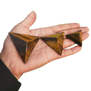 Tiger's eye Pyramid