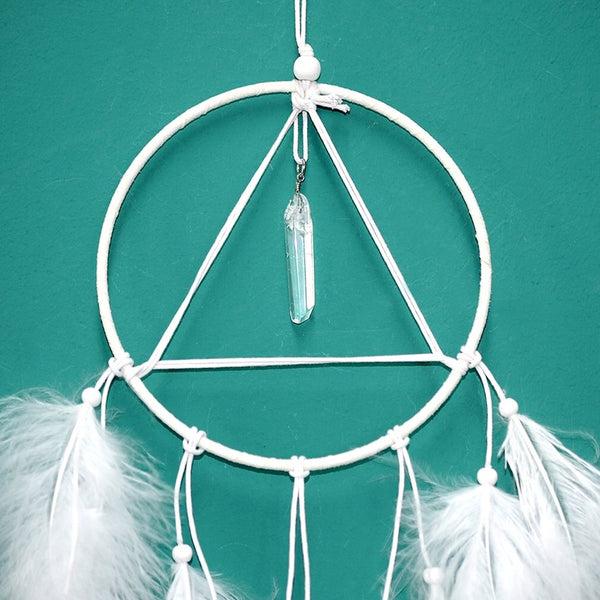 Dream Catcher with Natural Crystal Point
