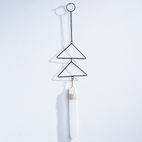 Selenite Wall Hanging - WHYTE QUARTZ