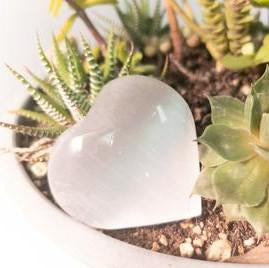 Natural Polished Stone Heart - WHYTE QUARTZ