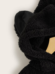 Zip Up Teddy Hooded Jacket With Ears