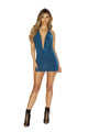 3662 Cowl Neck Mini Dress with O-Ring Detail