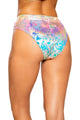 Rainbow Splash High-Waisted Shorts with Zipper Closure