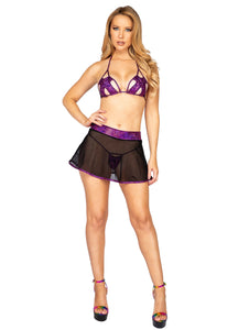 3899 - 1pc Shimmer Iridescent Cutout Bottoms