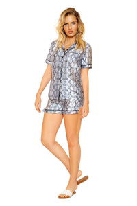 2pc Snakeskin Lounge Pajama Set