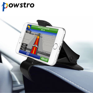 Powstro Adjustable Stand Clip Bracket for Mobile Phone GPS ABS Anti-slip Car Dashboard Holder for Iphone Huawei