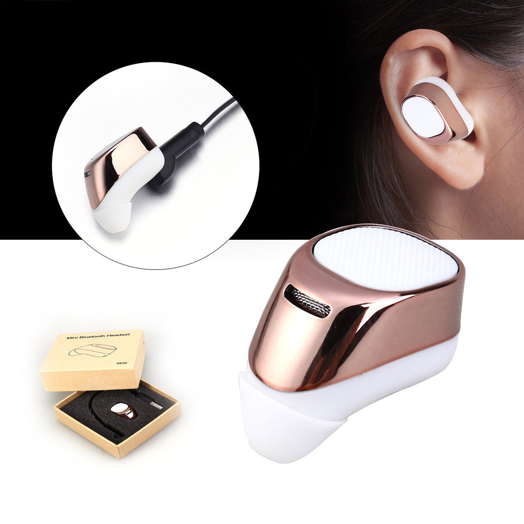 Mini In-ear Wireless Bluetooth Headset Invisible Earphone Earpiece Headphone Earbud for iPhone Samsung LG Sony HTC and Other Smartphones Tablets
