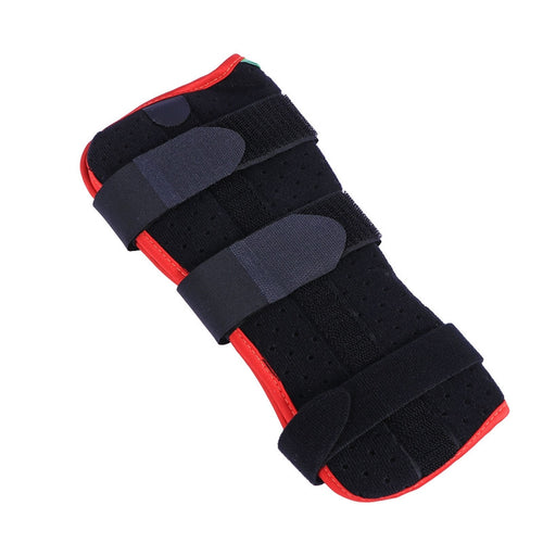 Wrist Splint Wrist Support Brace Breathable Compression Wrist Brace for Carpal Tunnel Tendonitis Wrist Pain Size L(Black and Red)