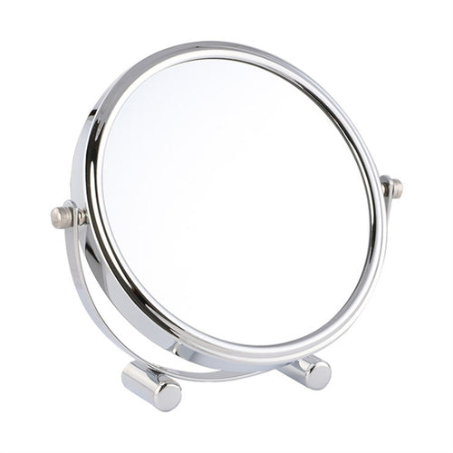7 inch 1X/3X Desktop Double-sided 360 Degree Swivel Mirror Portable Simple High definition Magnification Strong Corrosion Resistance Mirror for Multi-function Cosmetic Makeup