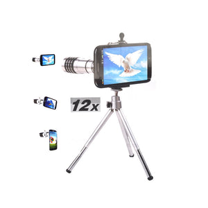 12X Zoom Mobile Telephoto Lens Kit with Tripod & Back Case for Samsung Galaxy S4 /i9500