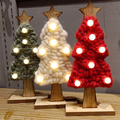 LED Felt Christmas Tree Christmas Gifts For 2019 New Year Xmas Decor Home