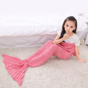 Mermaid Tail Blanket Crochet and Mermaid Blanket Summer Super Soft Sleeping Bag