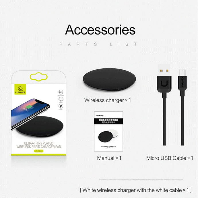 Wireless Charger Base Fast Charge For Iphone  Samsung  & Android Smartphone
