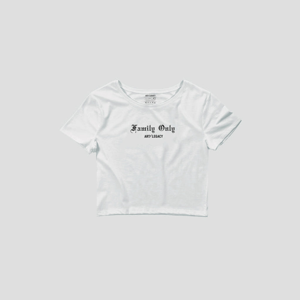 Family Only Crop Tee