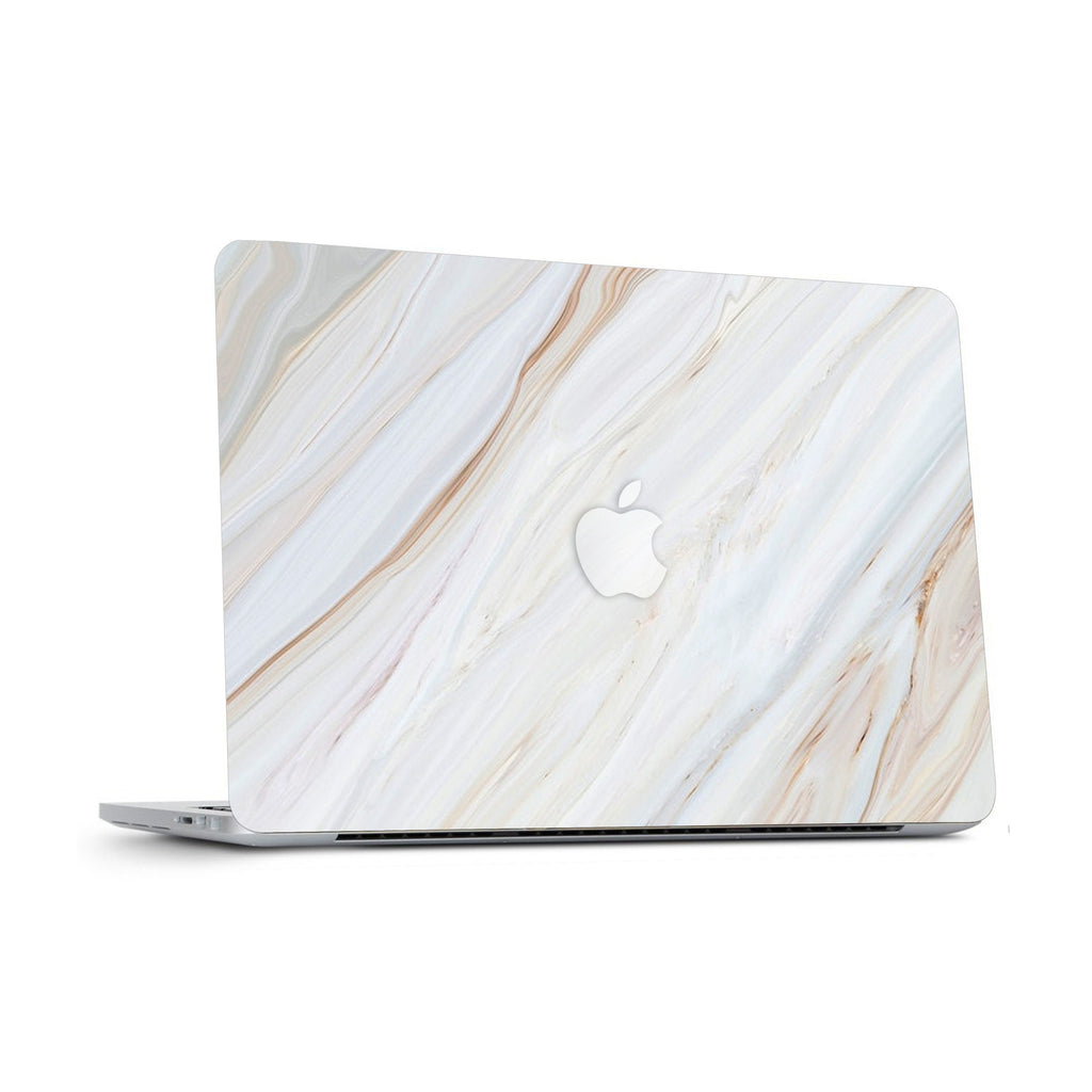 White Marble Laptop Skin