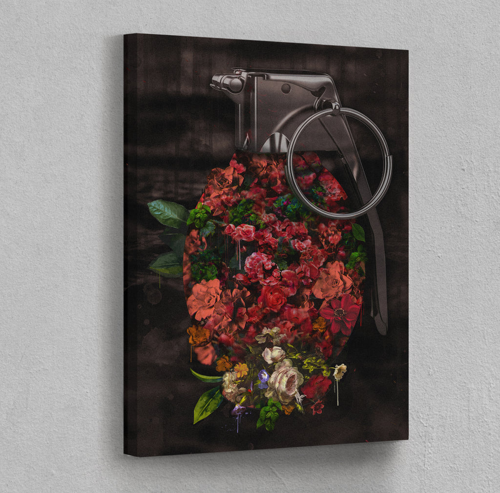 Flowerbomb Stretched Canvas