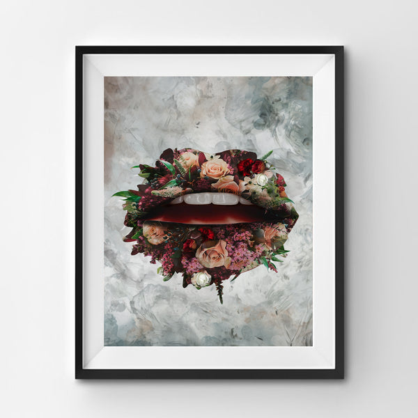Bloom Lips Art Print