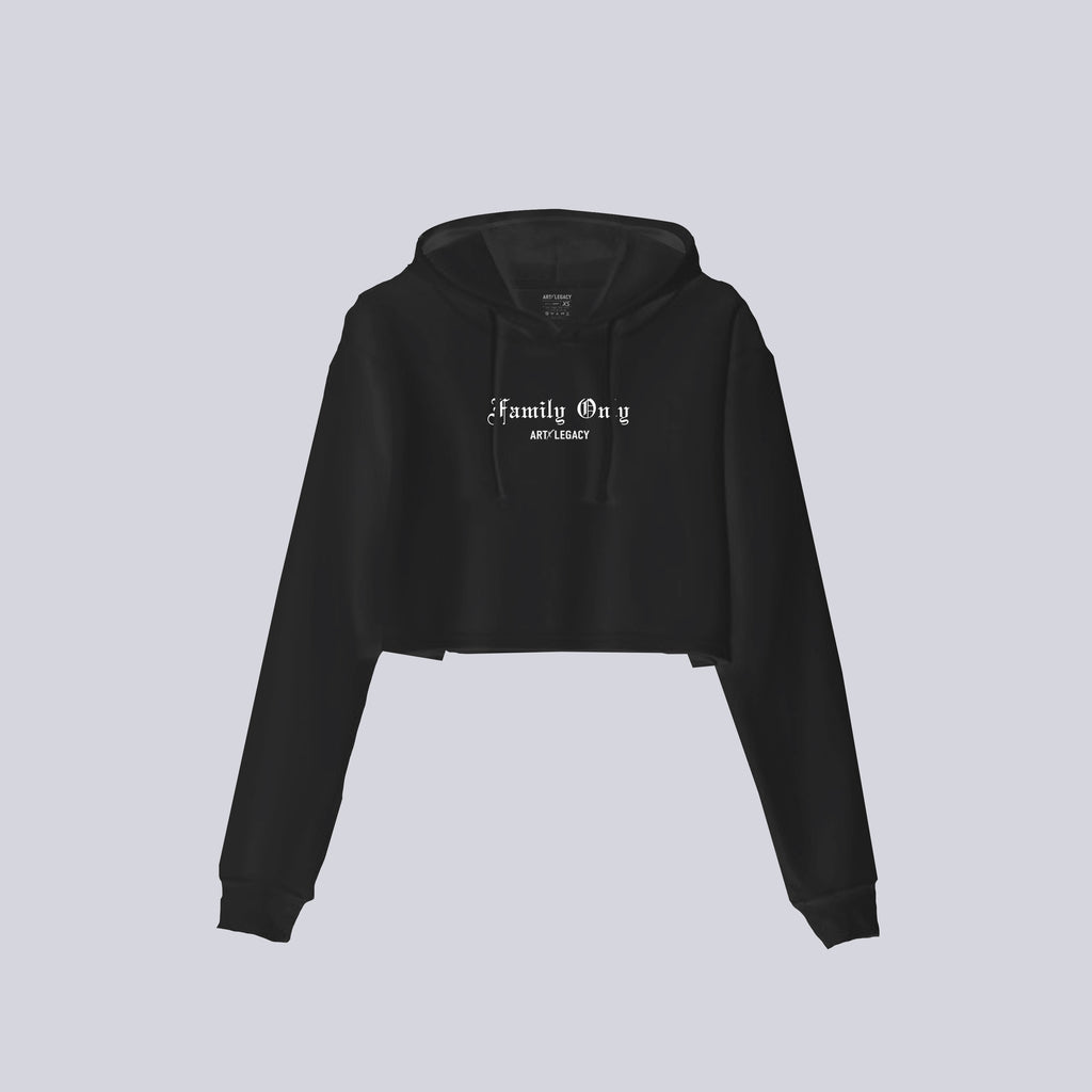 Family Only Crop Hoodie