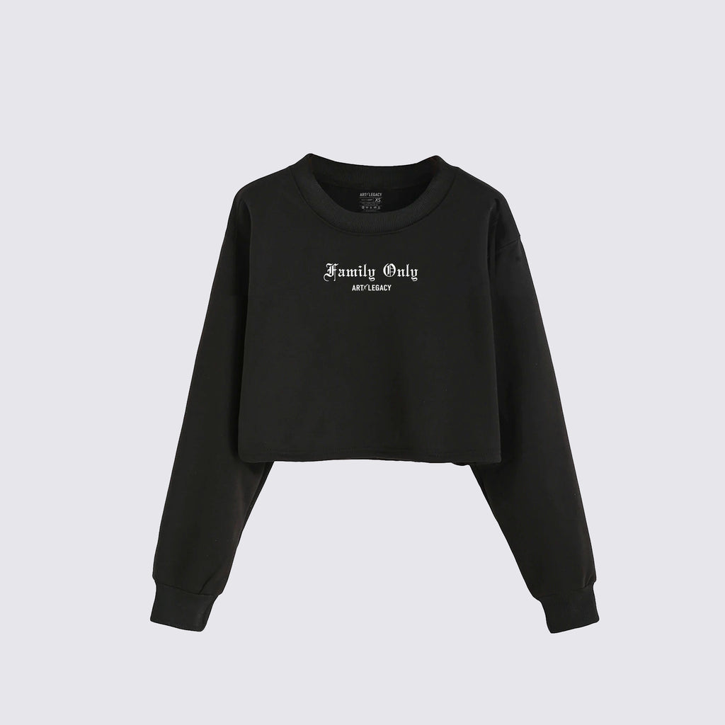 Family Only Crop Sweatshirt