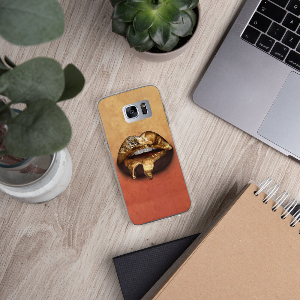 Gold Lips Samsung Case
