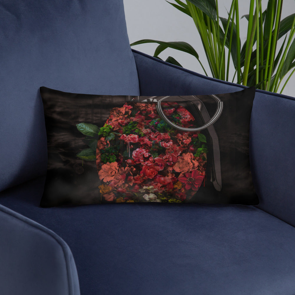 Flowerbomb Throw Pillow