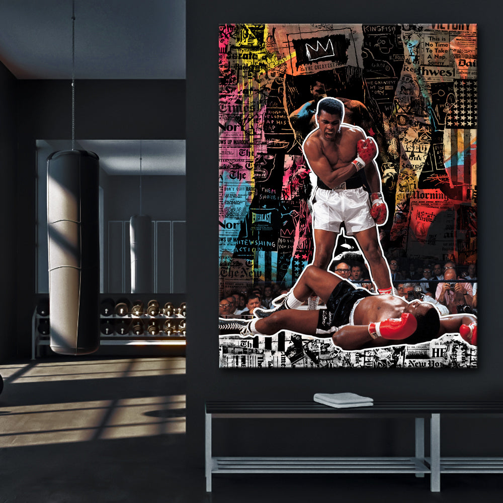 Muhammad Ali - History Stretched Canvas