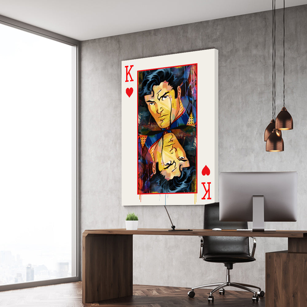 King Card Stretched Canvas