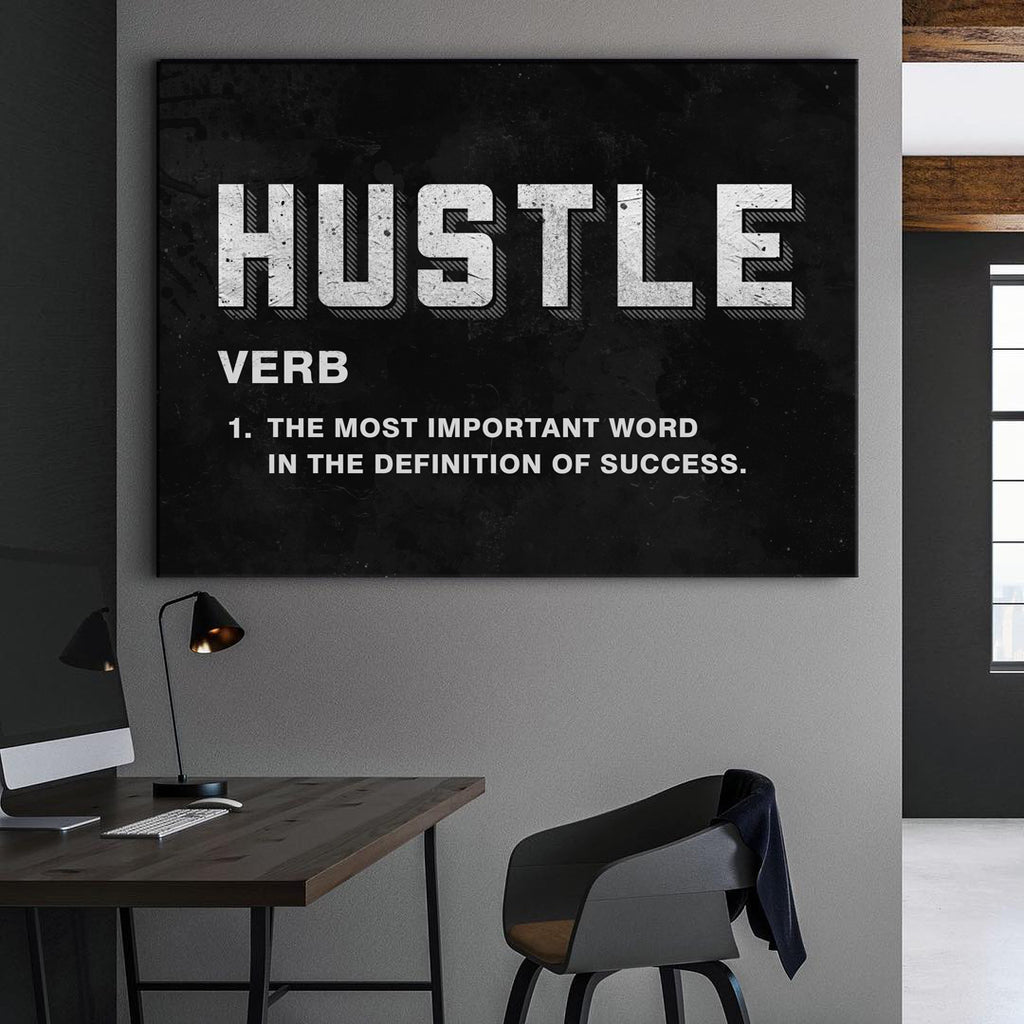 Hustle Stretched Canvas