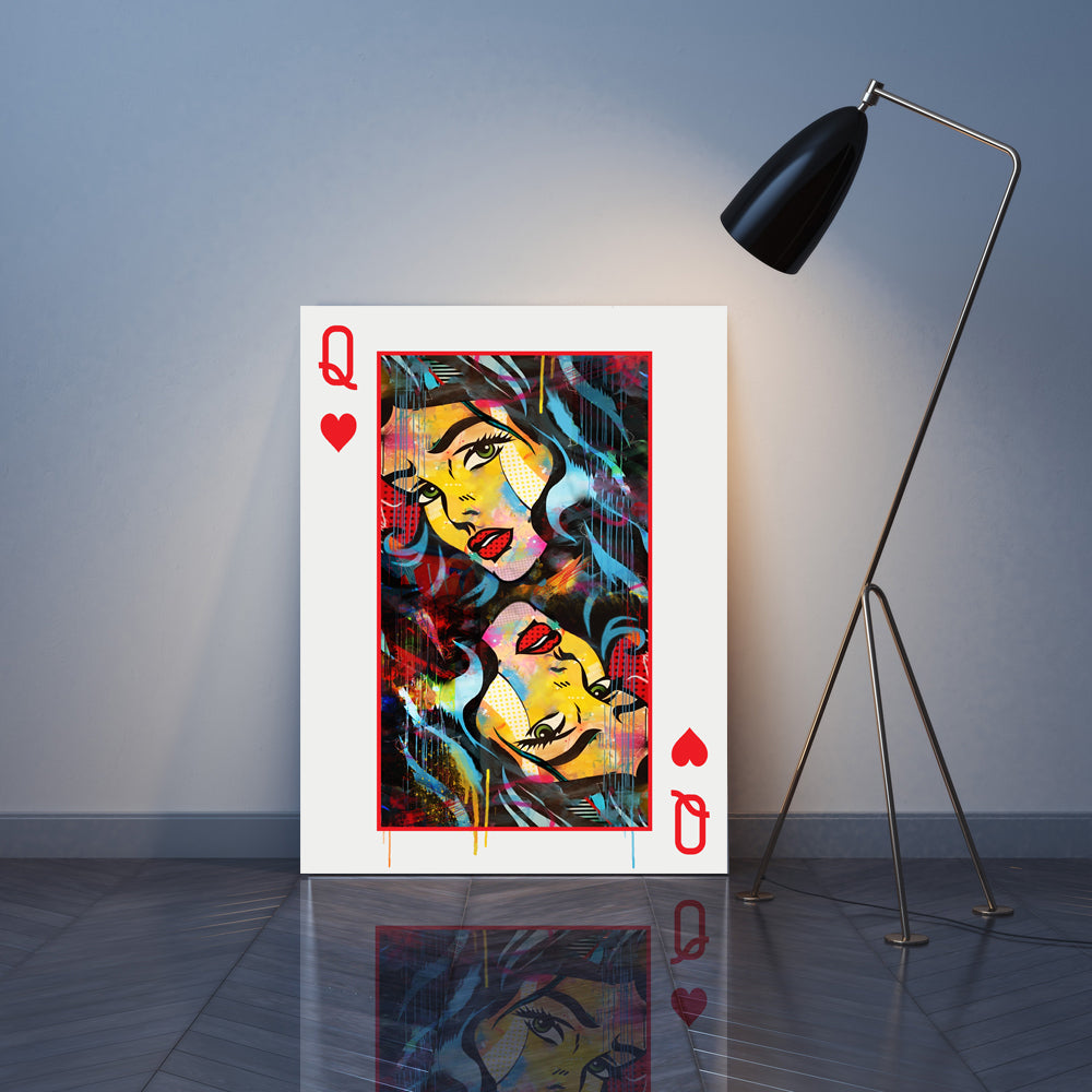 Queen Card Canvas