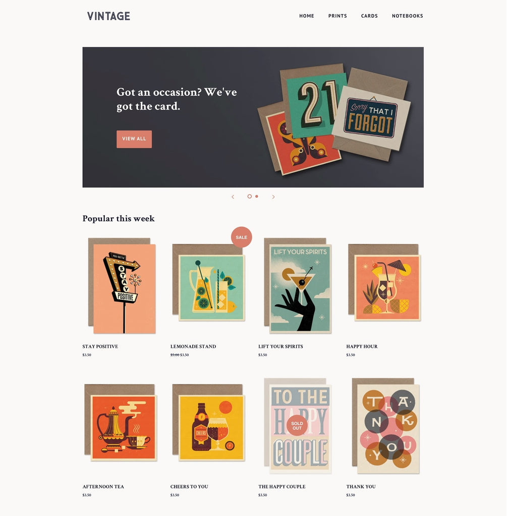 Shopify Venture Theme overview