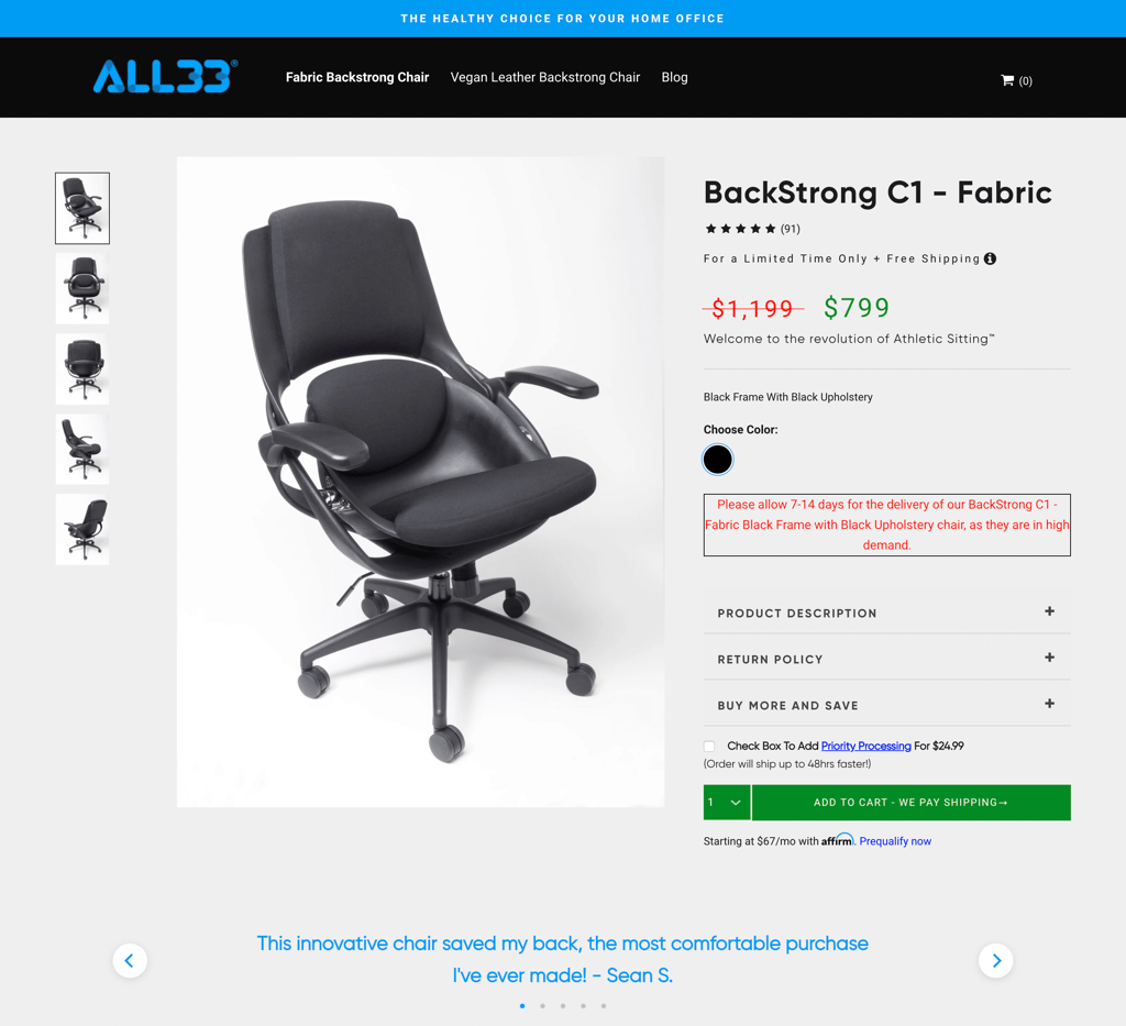 backstrong chair