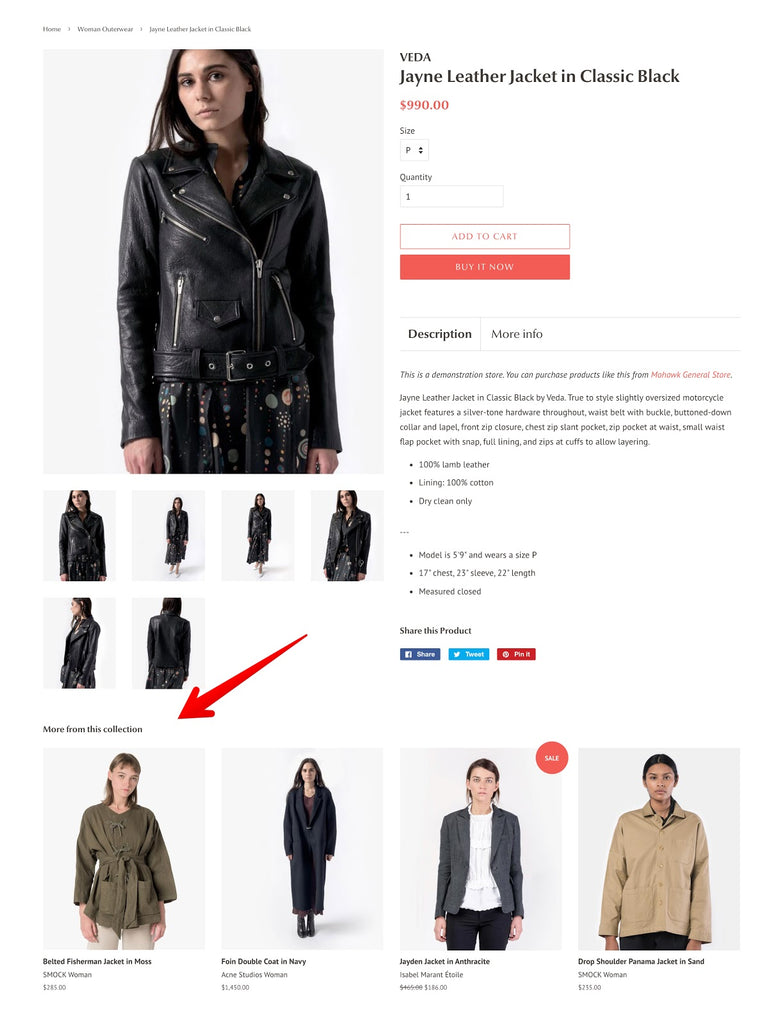 Product Recommendation feature