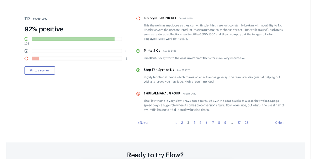 Flow review