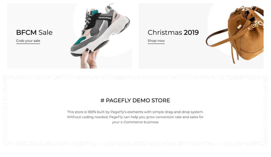 PageFly demo store