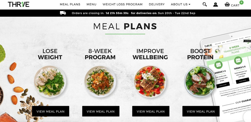 sell nutrition plans on Shopify