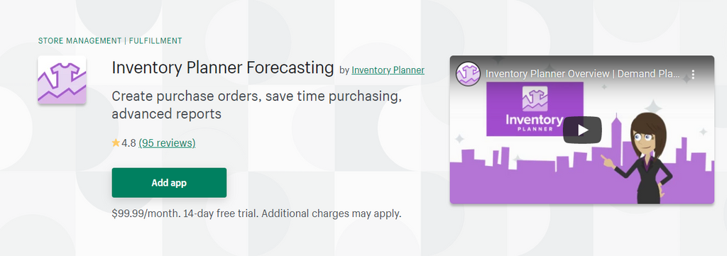Inventory Planner Forecasting