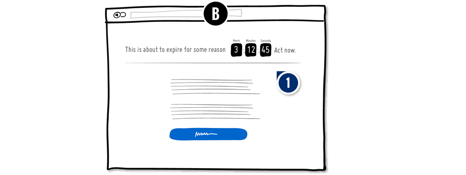 countdown timer on PPC landing page