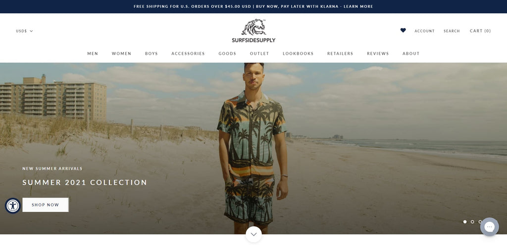 Surfside Supply Shopify T-shirt Store