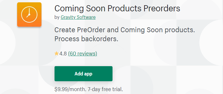 Coming Soon Products Preorders