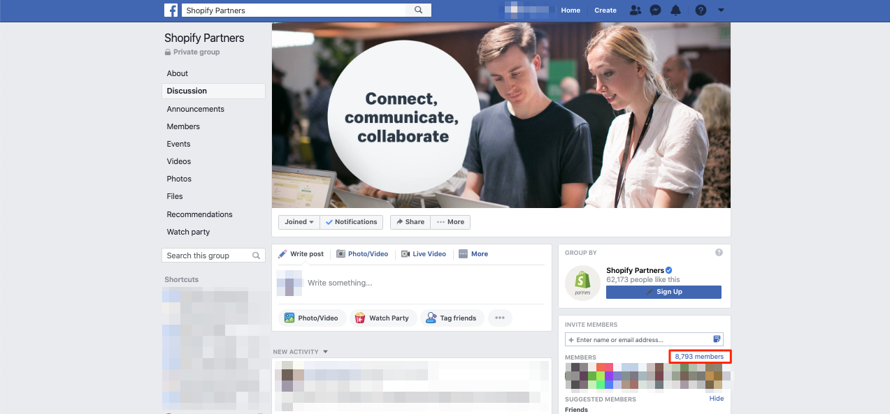 Shopify Partners Facebook
