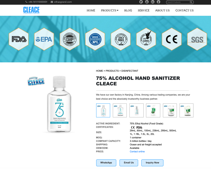 Cleace PPC landing page