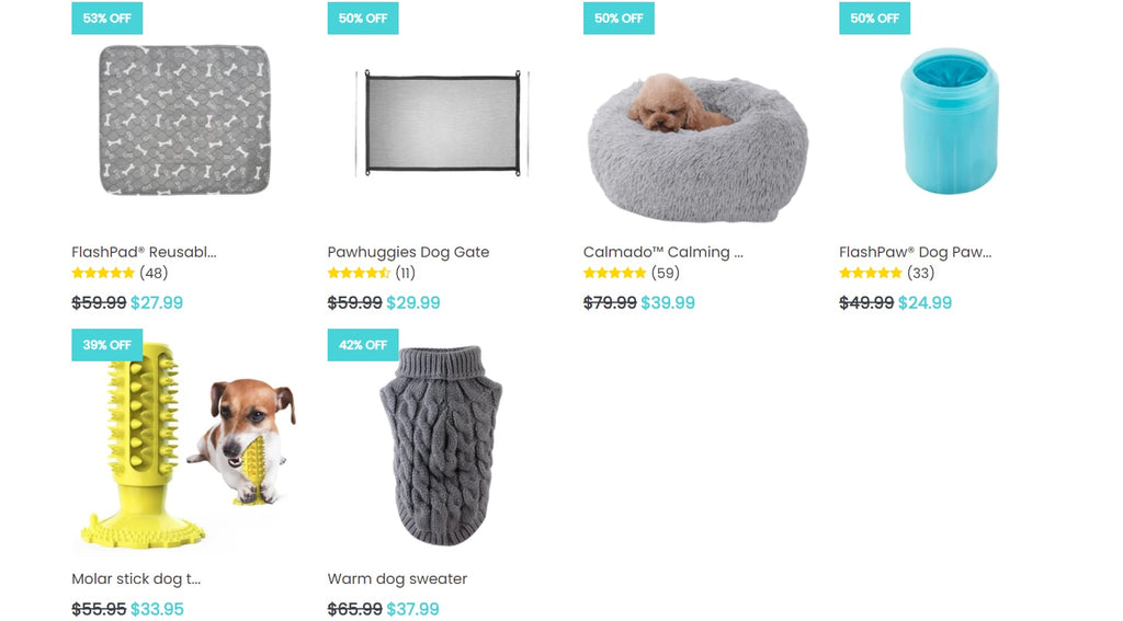 Pawhuggies' product page