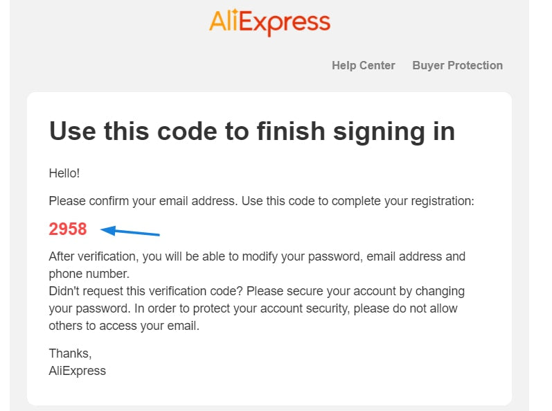 registering for AliExpress Account