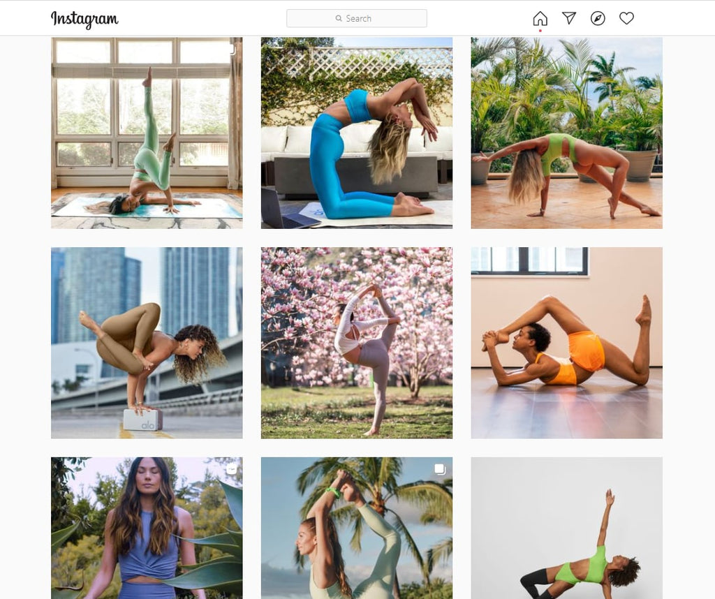 Alo Yoga Shopify store examples