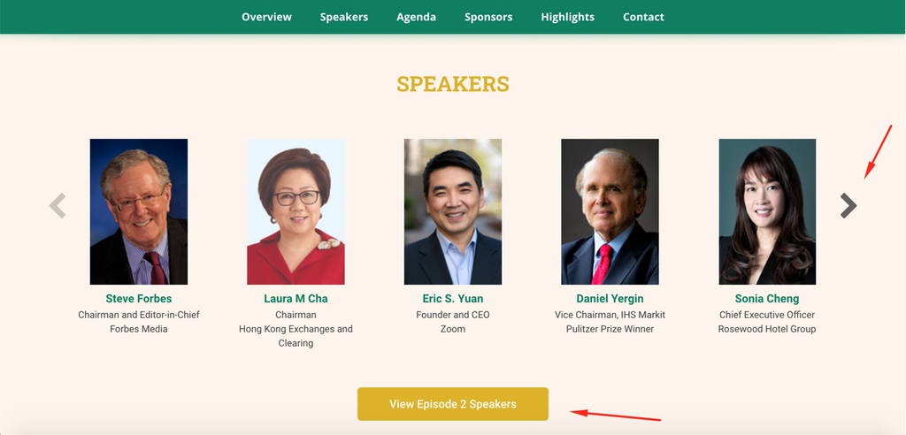 Forbes event speakers