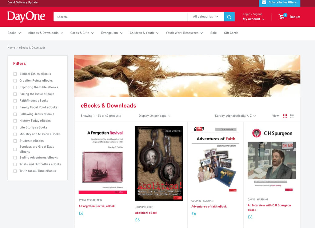 selling ebooks on Shopify