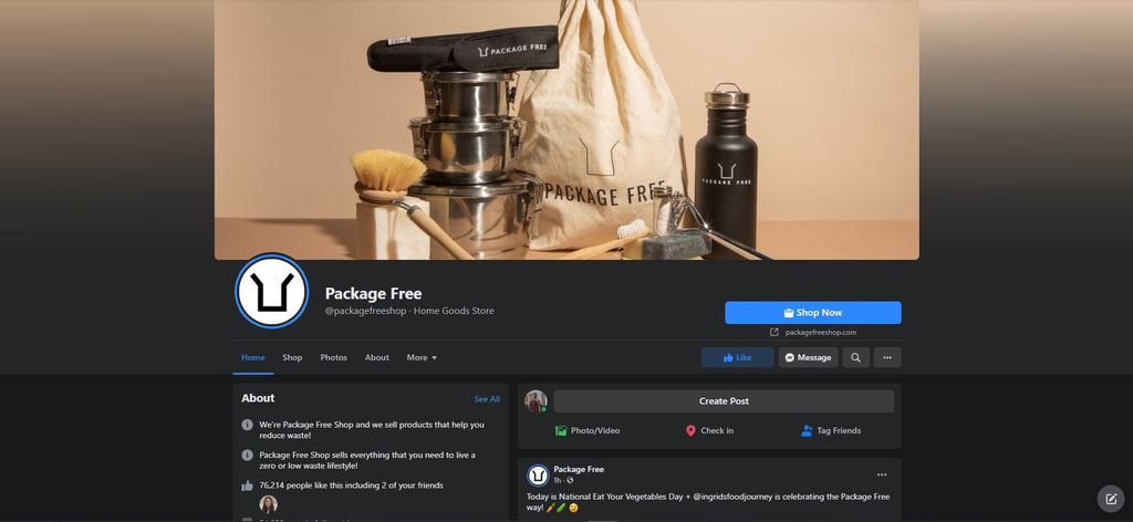 Package Free Shopify Facebook store examples