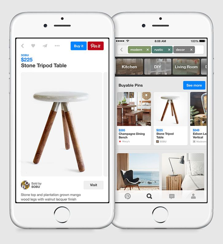 Buyable Pins on Pinterest Ads